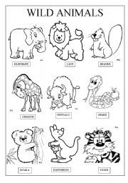 english worksheet wild animals animals animal worksheets preschool worksheets worksheets. Black Bedroom Furniture Sets. Home Design Ideas