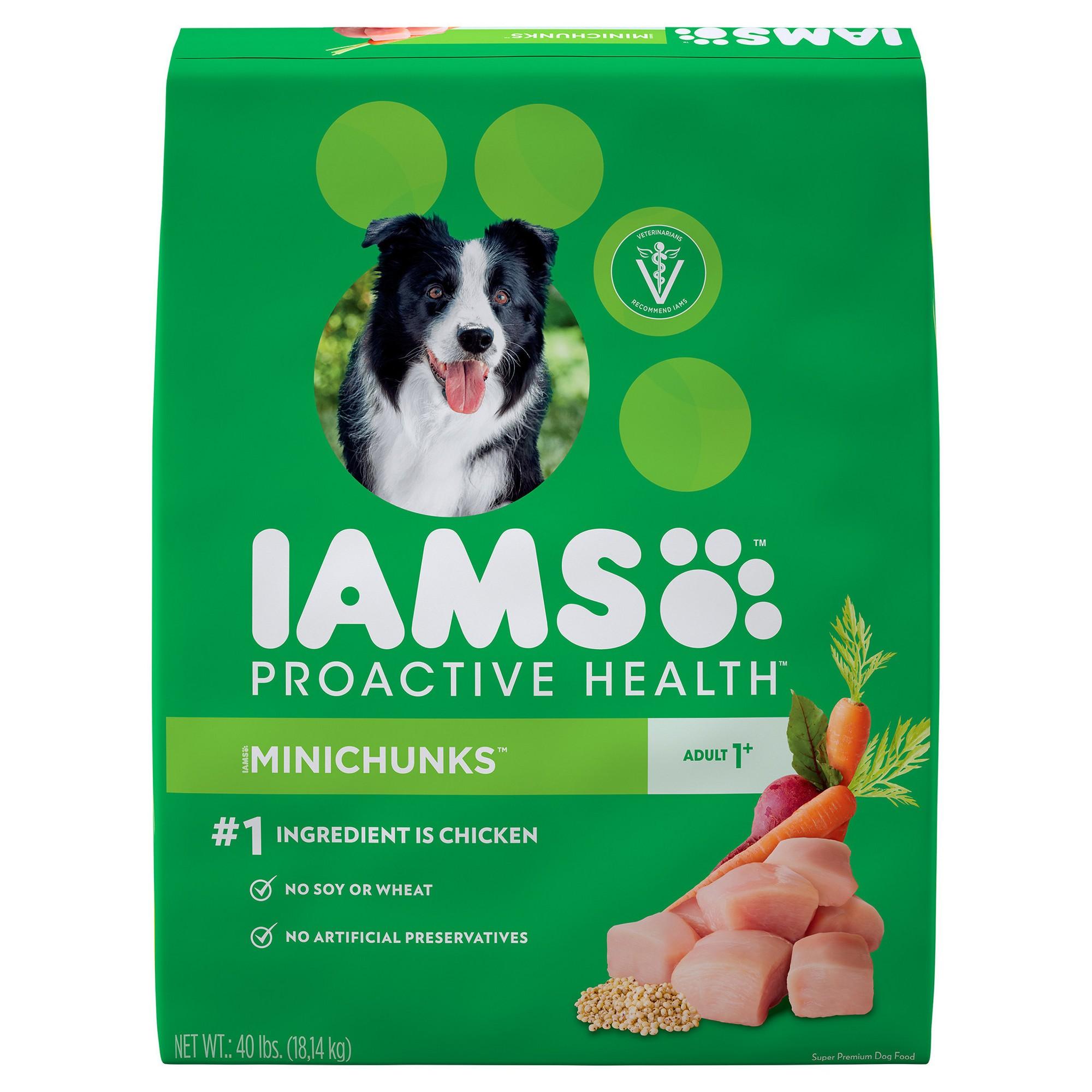 Iams Proactive Health Adult Minichunks Chicken Flavor Dry Dog Food