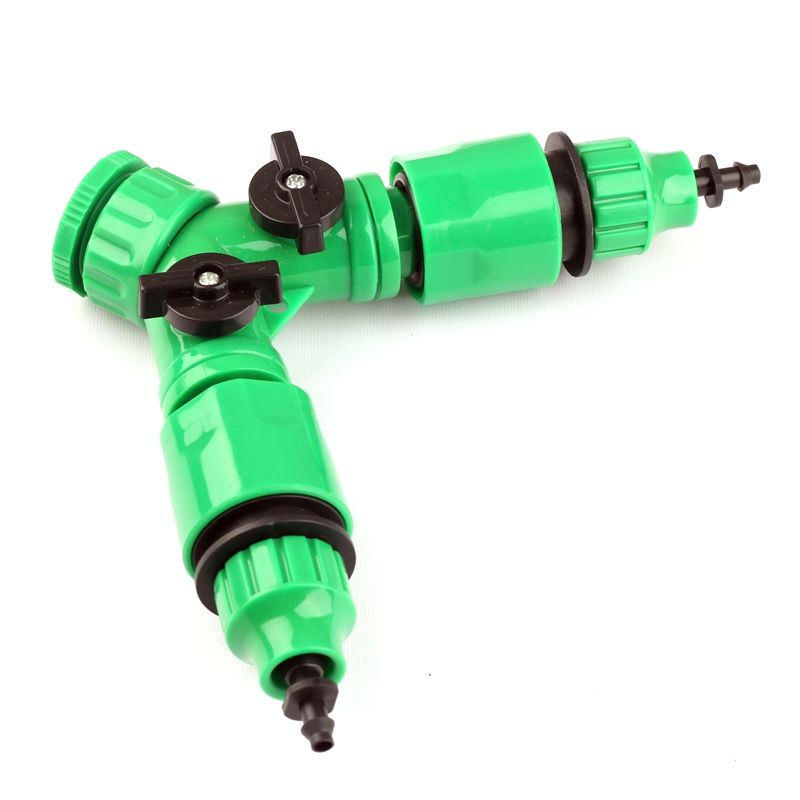 G 1 2 Or 3 4 Faucet Joint Two Ways Ball Valve 2pcs 8 11 Or 4 7mm Hose Quick Connectors Garden Irrigation Fast Hose Connect Hose Connector Irrigation Faucet