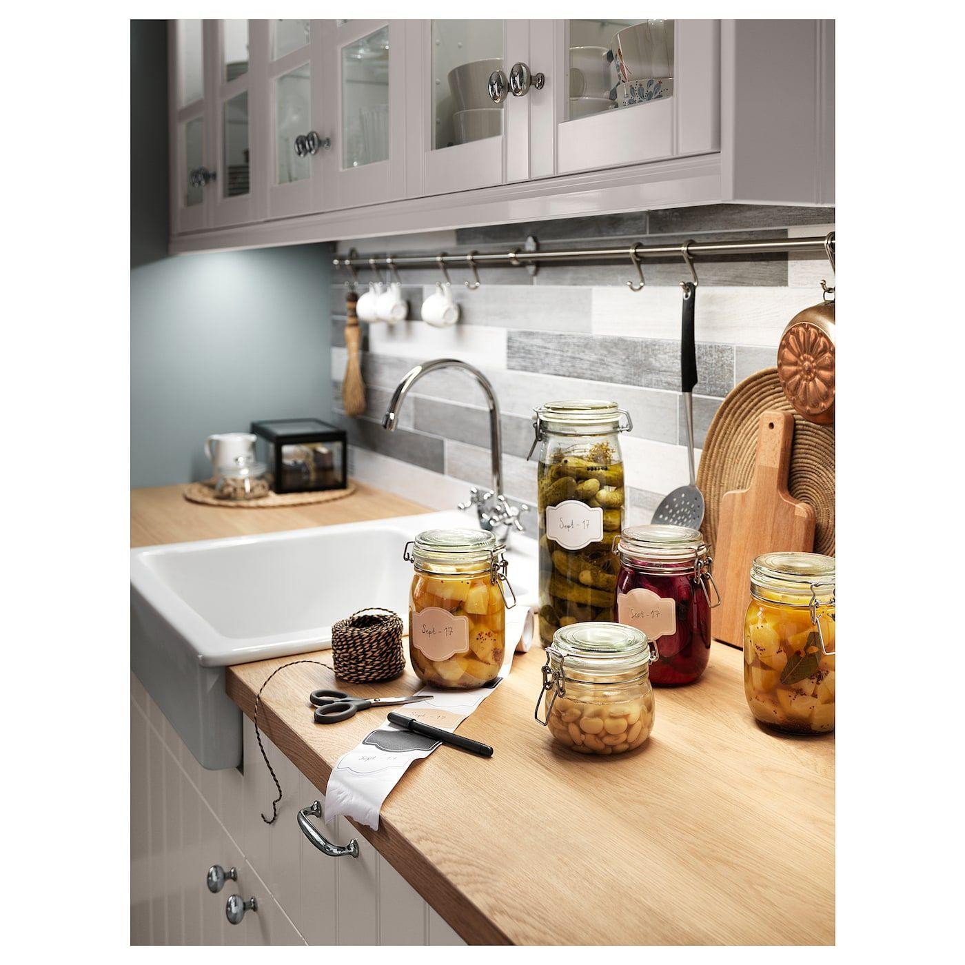 Mollekulla Countertop Oak Veneer 98x1 1 2 Countertops Wood Countertops Kitchen Remodel