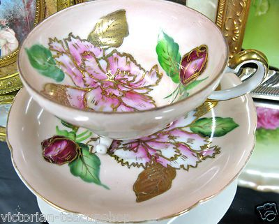 Trimont Made by Occupied Japan 3 Toed Tea Cup and Saucer