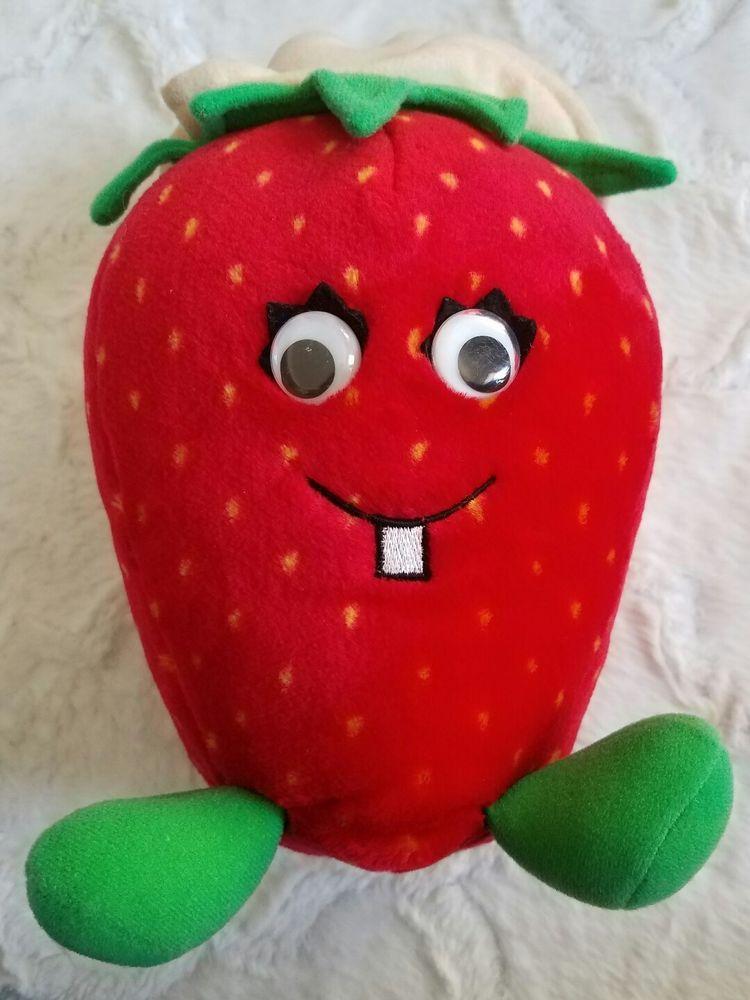 "VintageE 1988 Del Monte Country Yumkin Strawberry  Plush 11"" Tall #Delmontecorporation"
