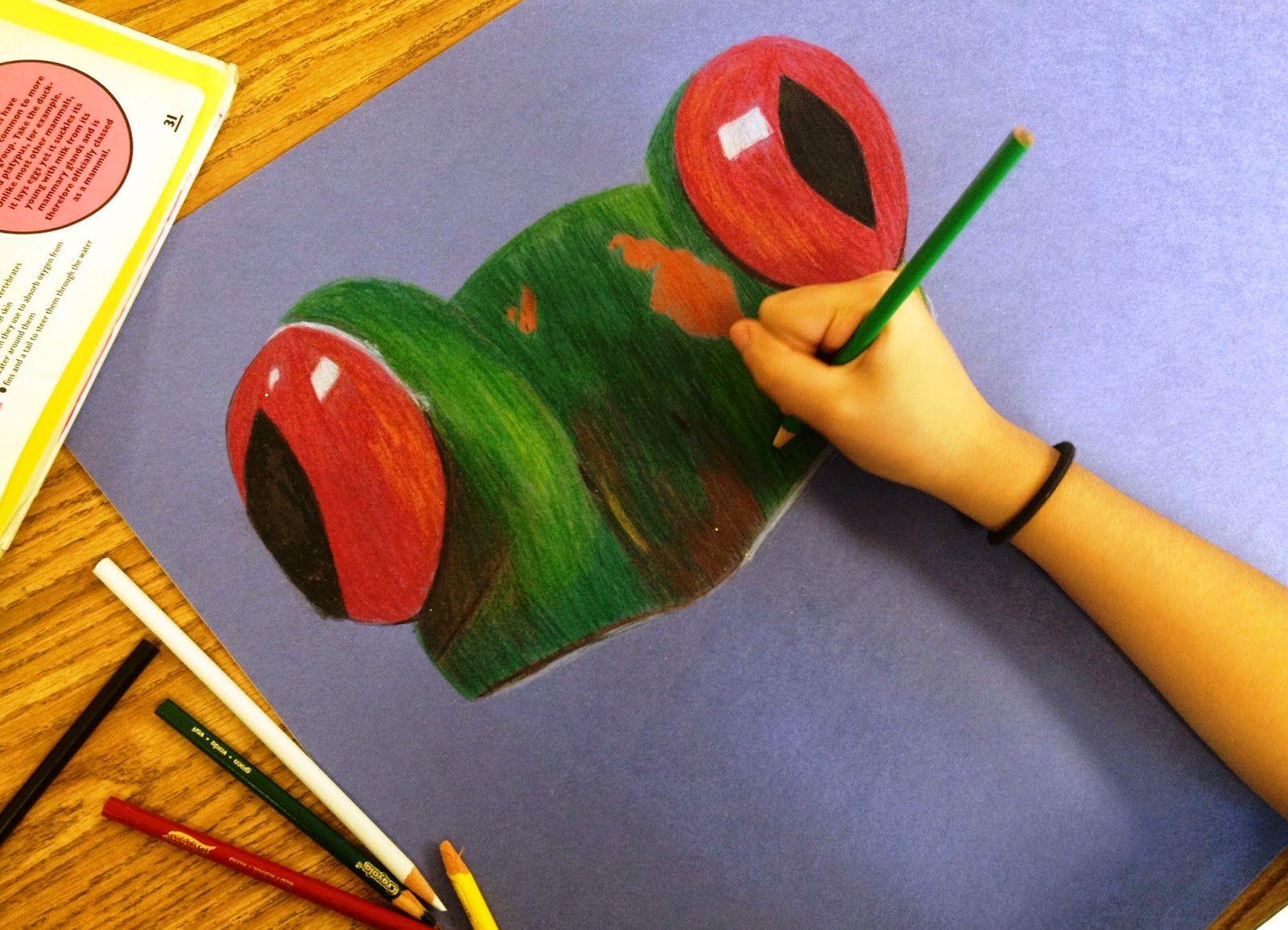 Colored Pencil Technique Middle School Artful Artsy Amy