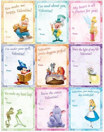 printable Disney Valentine Cards  SchoolHolidaysValentines