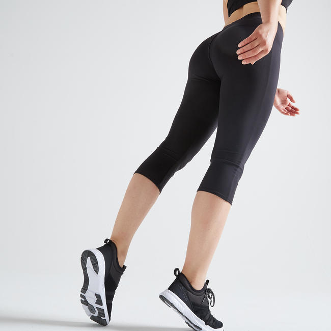 Women's Basic Fitness Cropped Bottoms - Black in 2020 ...