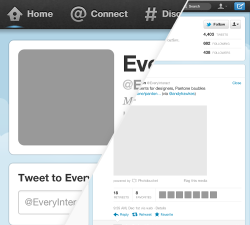 free new twitter profile page gui psd photoshop pinterest new