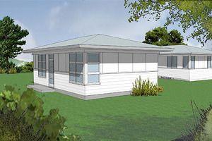 Modern Style House Plan - 1 Beds 1 Baths 600 Sq/Ft Plan #48-473