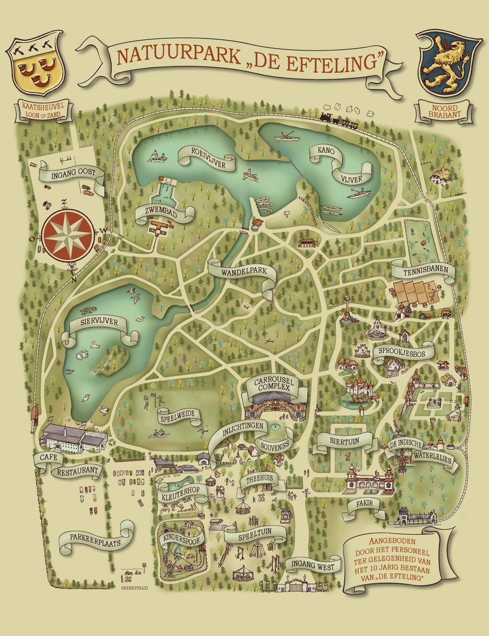 Efteling Map 1972 Reisideeen Nostalgie Geschiedenis