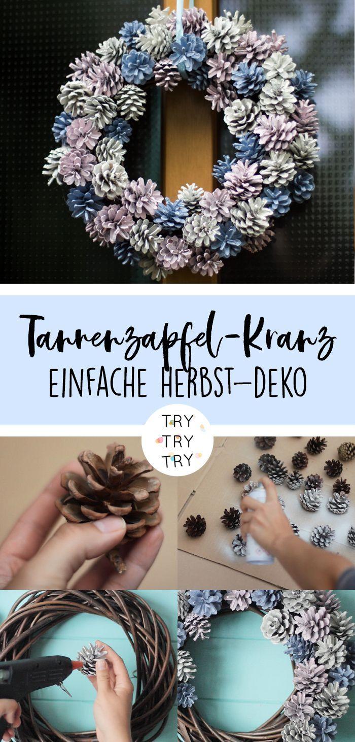 Photo of Herbstlicher Tannenzapfen-Kranz / Kiefernzapfen-Kranz