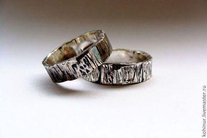 Кольца ручной работы. Ярмарка Мастеров - ручная работа. Купить Обручальные  кольца. Серебро. c75e455d7cc