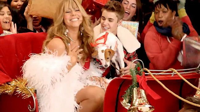 Justin Bieber And Mariah Carey S All I Want For Christmas Video Debuts Video Mariah Carey Justin Bieber Christmas Justin Bieber