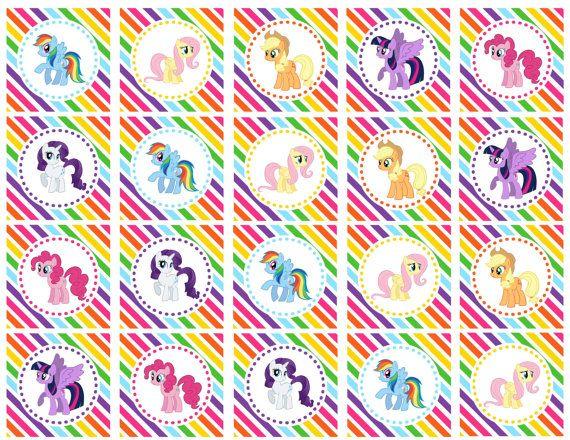 DIY Printable My Little Pony Mane Six Rainbow por shoptinyanchor