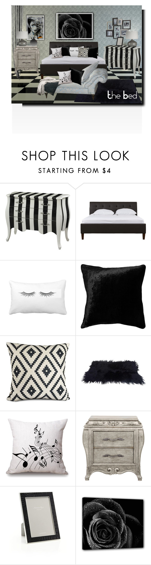 """""""The bed contest"""" by barbara-gennari ❤ liked on Polyvore featuring interior, interiors, interior design, home, home decor, interior decorating and Addison Ross"""