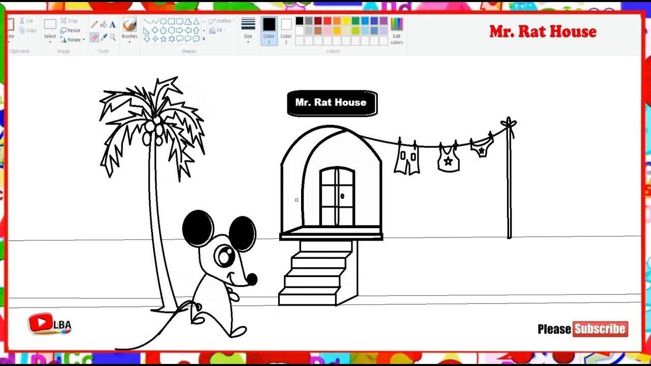 How to draw Cartoon Rat House   LearnByArt   Cartoon rat ...