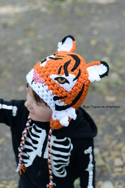 Ravelry  Tiger hat crochet pattern by Les Tuques De Stephanie in English  and French fa6b578d63d