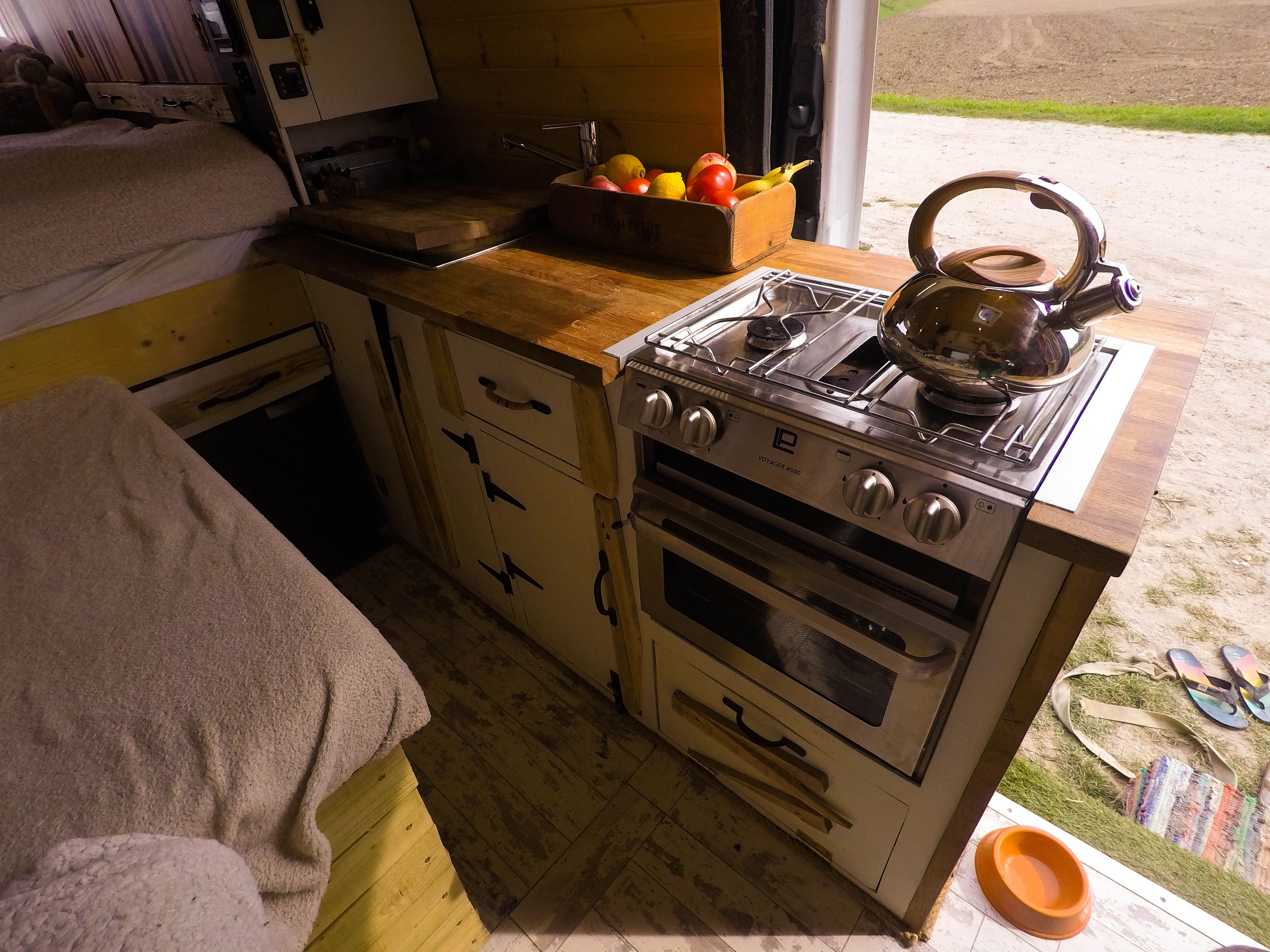 Sprinter van conversion kitchen with oven, hob and grill
