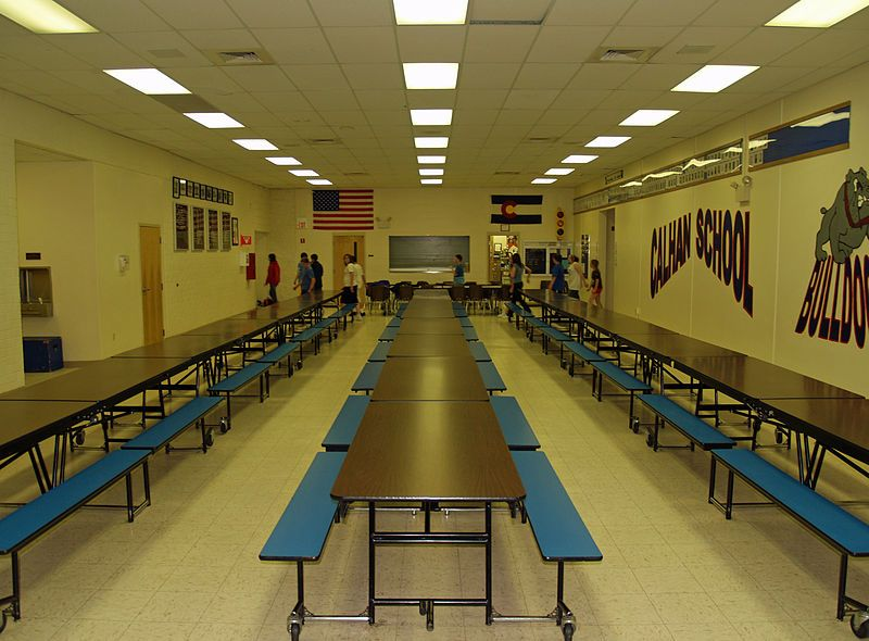 high school lunch table. File:Calhan Colorado High School Cafeteria By David Shankbone.jpg Lunch Table C