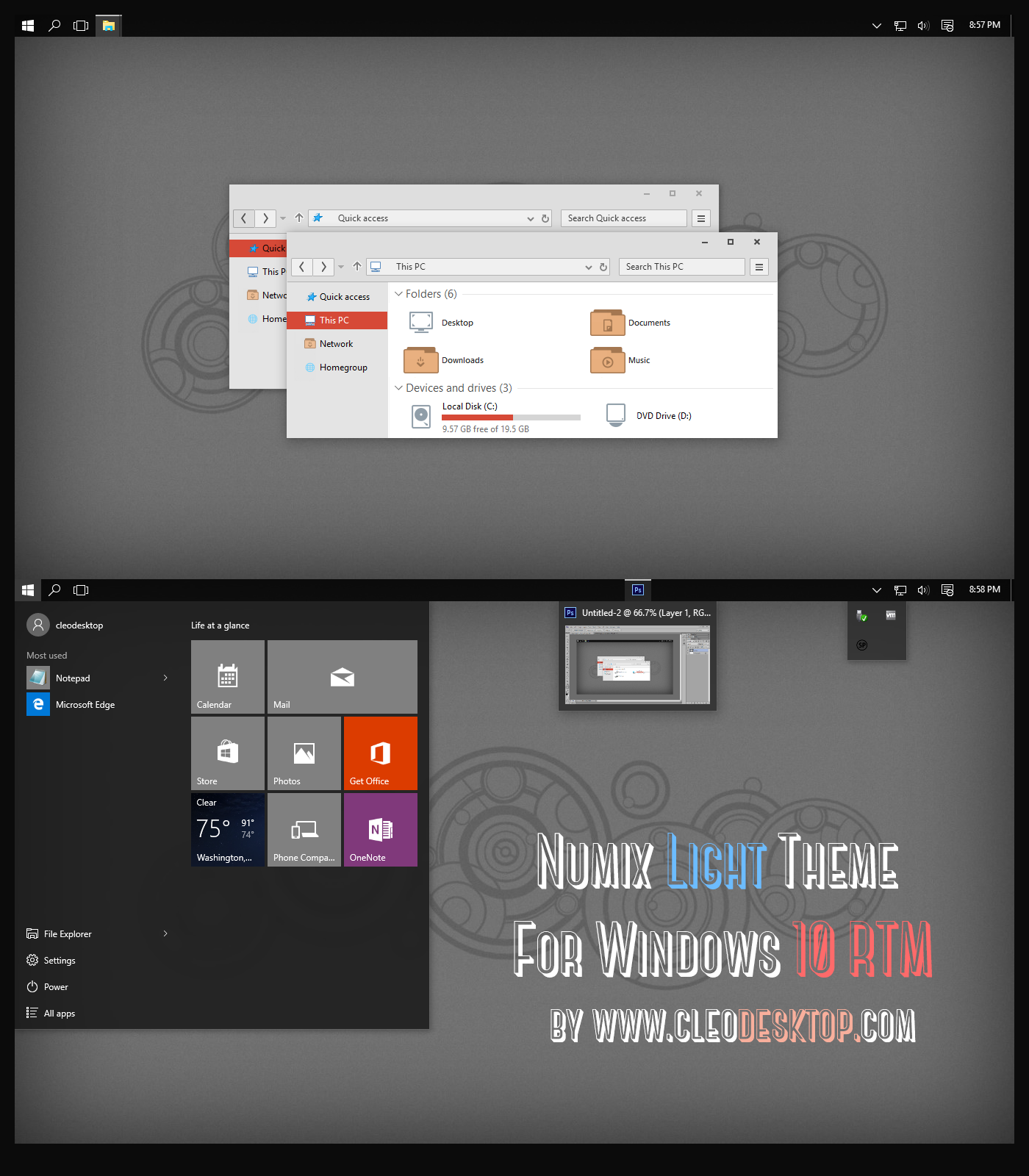 Numix Light Theme For Windows 10 RTM Adobe illustrator