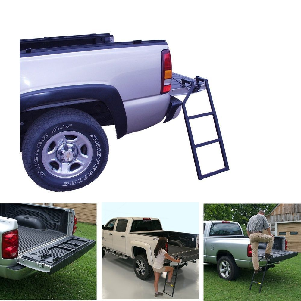 Truck Tailgate Ladder Portable Heavy Duty Climb Step Stair