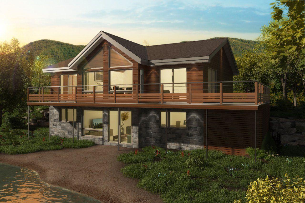 Maison neuve - Chalets, modèle Scandinave | Scandinavian home, Barn house, House