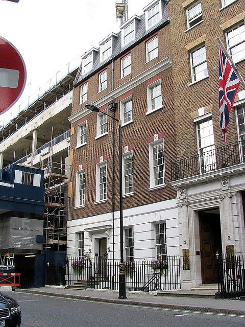 3 Savile Row, London, England. Where the Beatles performed their rooftop concert.