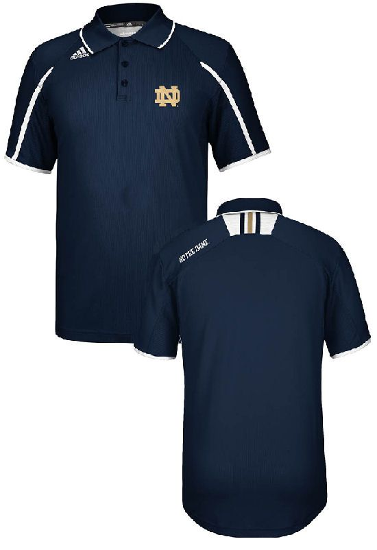 Notre Dame Fighting Irish 2013 Coaches Climalite Polo Shirt by Adidas $64.95