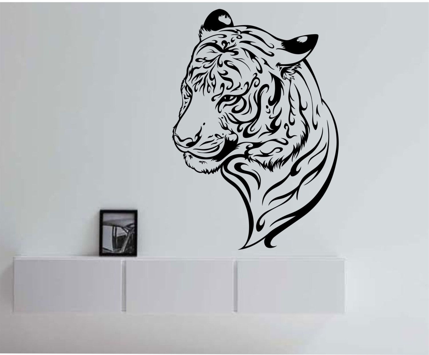 Tiger version 103 Vinyl Wall Decal Sticker Art Decor Bedroom Design Mural by StateOfTheWall on Etsy  sc 1 st  Pinterest & Tiger version 103 Vinyl Wall Decal Sticker Art Decor Bedroom Design ...