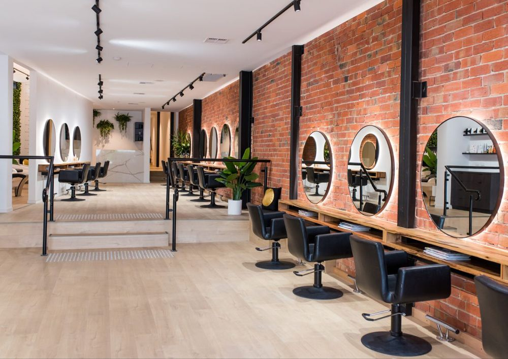 NYCstyle salon design at Elliott Steele Interior de