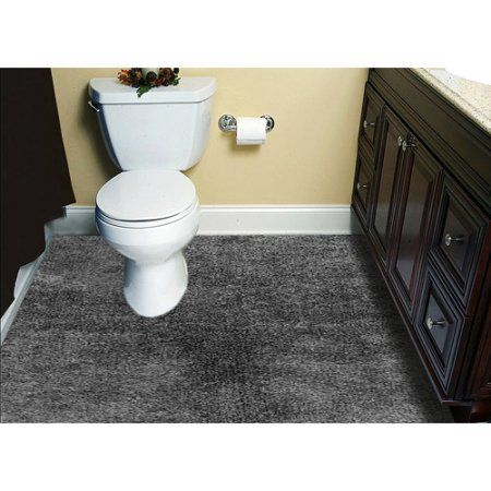 Customizable 6 X8 Plush Wall To Wall Bathroom Carpeting Silver