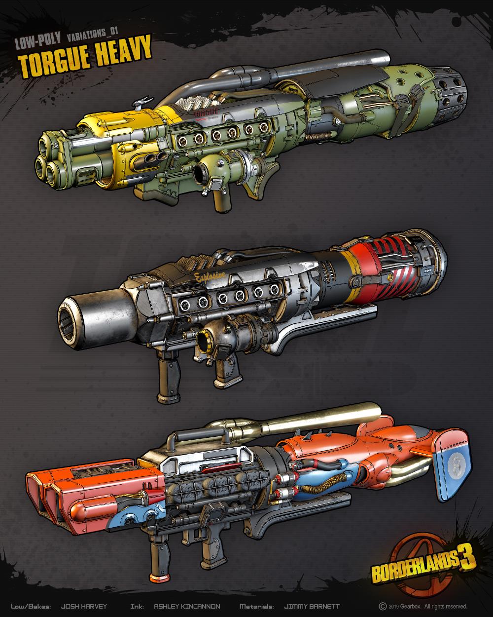 Artstation Borderlands 3 All Guns By Liquid Development Liquid Development Borderlands Guns Borderlands Art