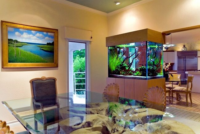 Beau 100 Ideas Integrate Aquarium Designs In The Wall Or In The Living Room