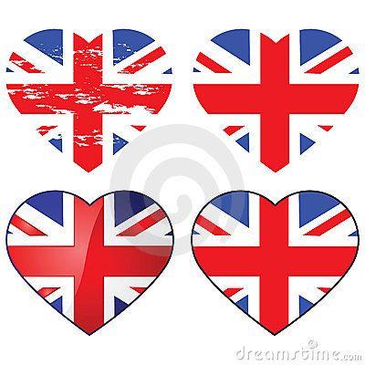 Amor Reino Unido Corazon Para Colorear Bandera De Reino Unido Reino Unido