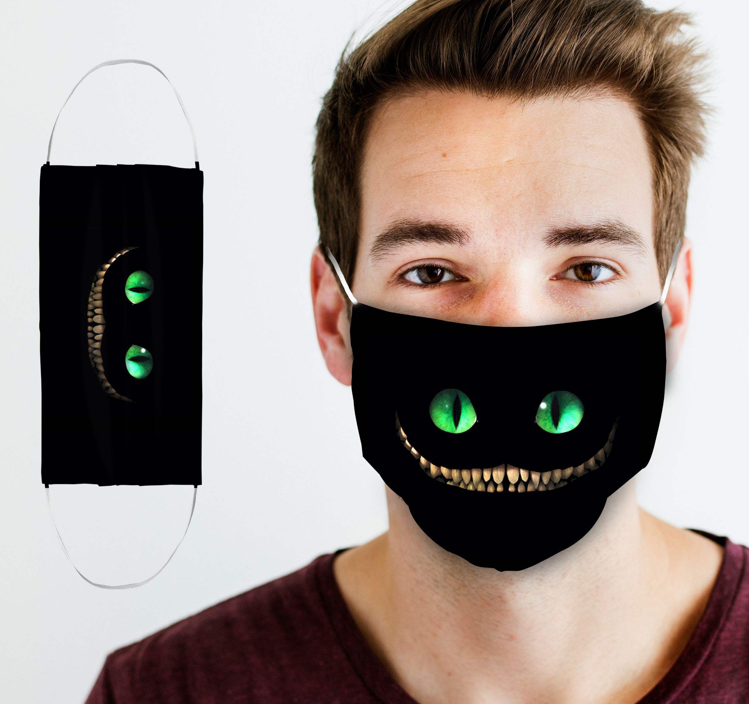 Cheshire Cat Face Mask in 2020 Cat face mask, Mask, Face