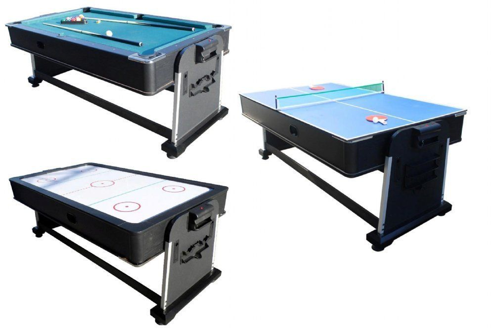 3 In 1 ROTATING COMBINATION MULTI GAME TABLE ~ POOL ~ AIR HOCKEY ~ PING  PONG~NEW #BERNERBILLIARDS