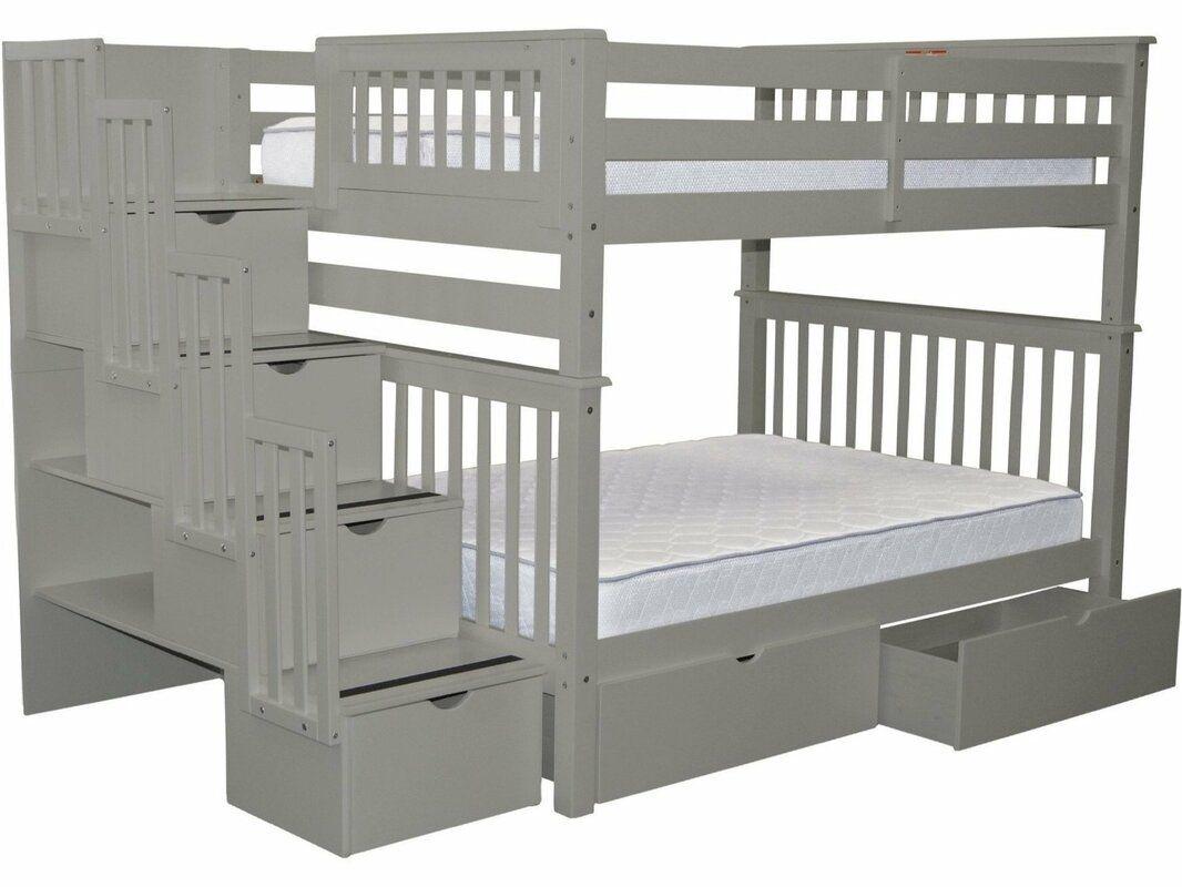 Harriet Bee Tena Full Over Full Bunk Bed With Drawers Wayfair In