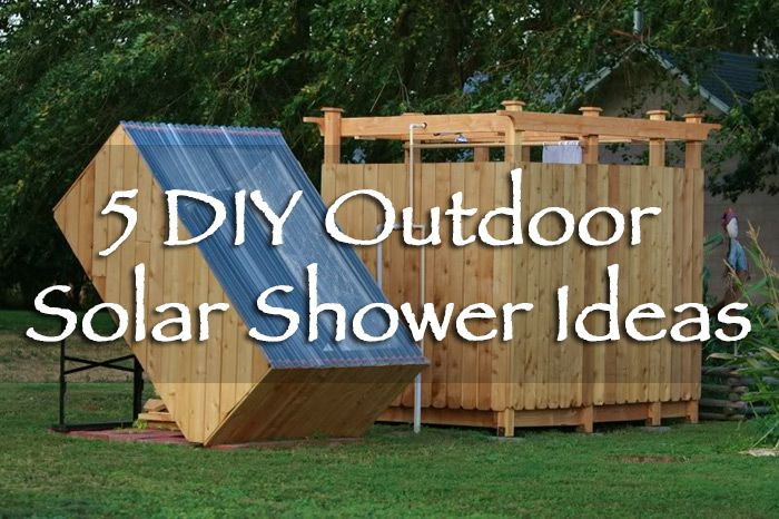 5 diy outdoor solar shower ideas solaire survie et panneau. Black Bedroom Furniture Sets. Home Design Ideas