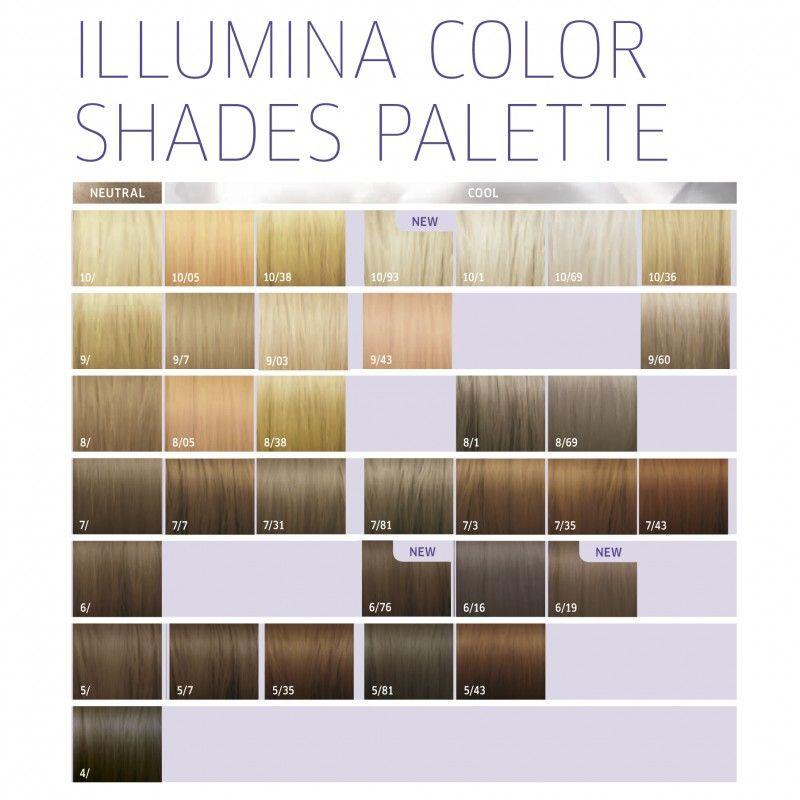 Wella Professionals Illumina Color 7 81 Duda Batista Hair Chart