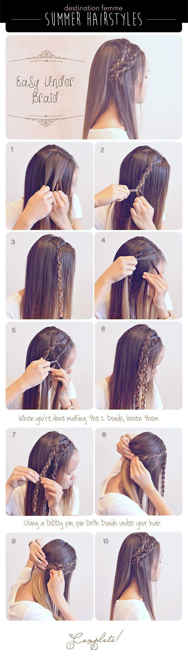 3 Cute & Easy Braided Hairdos For Summer  Destination Femme