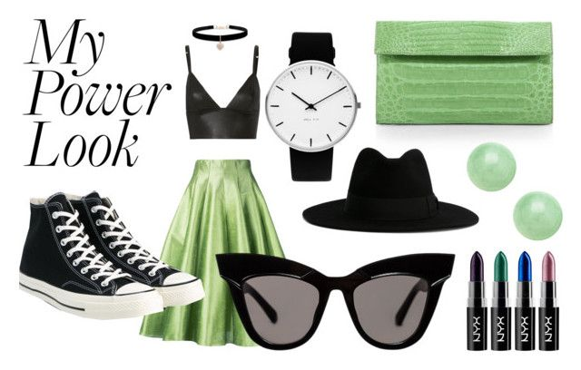 """Be Powerful With Green And Black"" by leonor-trincao ❤ liked on Polyvore featuring T By Alexander Wang, Bambah, Nancy Gonzalez, Yves Saint Laurent, Converse, Betsey Johnson and Rosendahl"