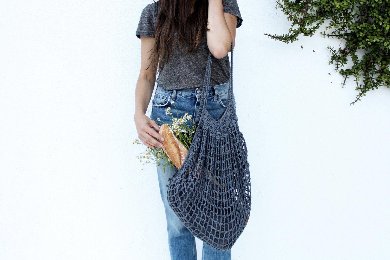 French Market Bag   Crochet - Bolsos, bolsas, estuches y neceseres ...