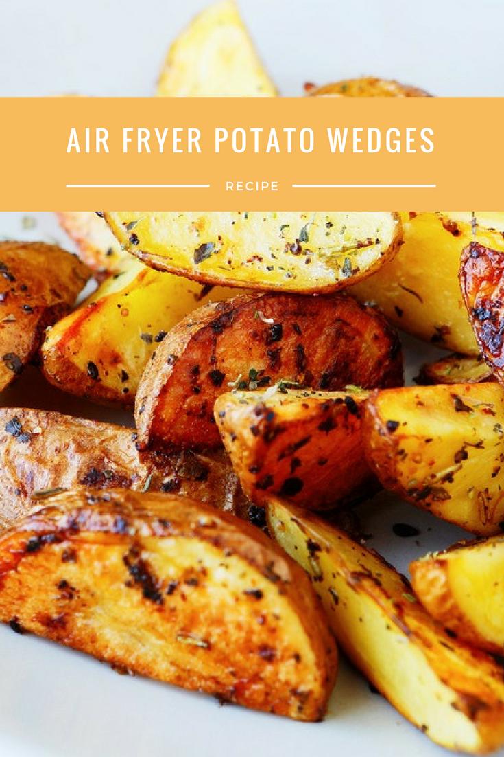 Air FryerPotato Wedges Recipe Food recipes, Potato