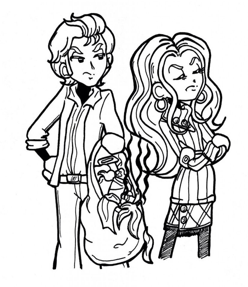 Brent Roberts And Mackenzie Hollister Dork Diaries Coloring Pages Witch Coloring Pages