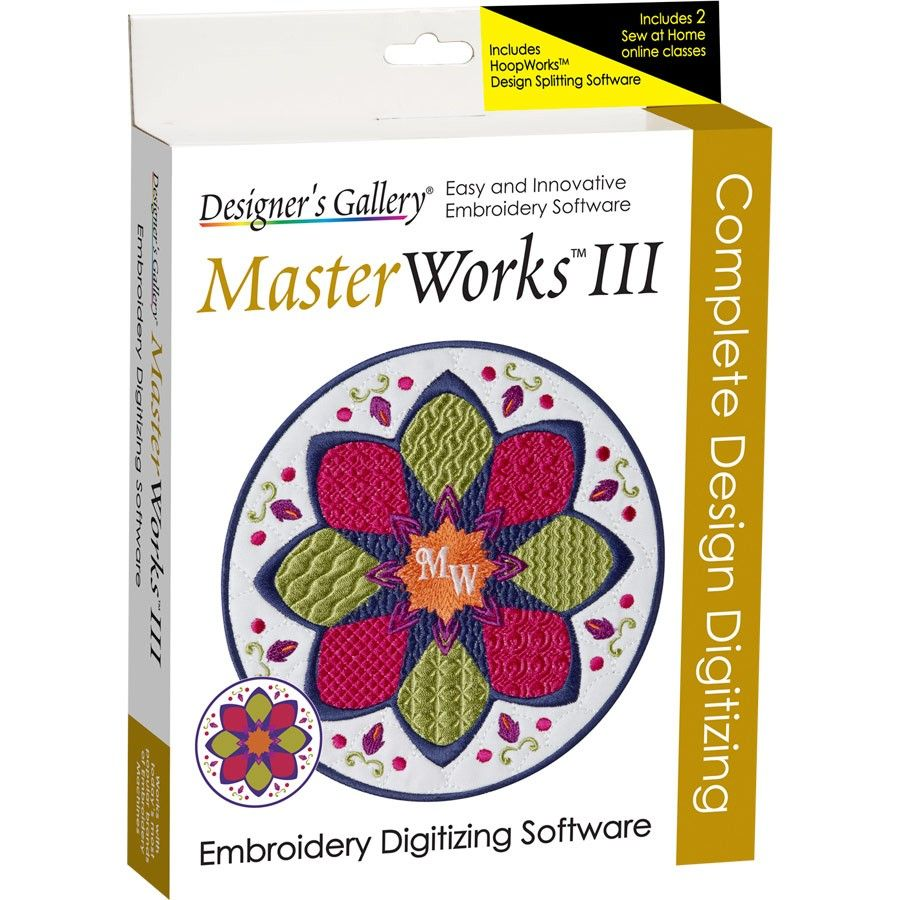 Masterworks Iii Embroidery Software Free Embroidery Digitizing Software Embroidery Software