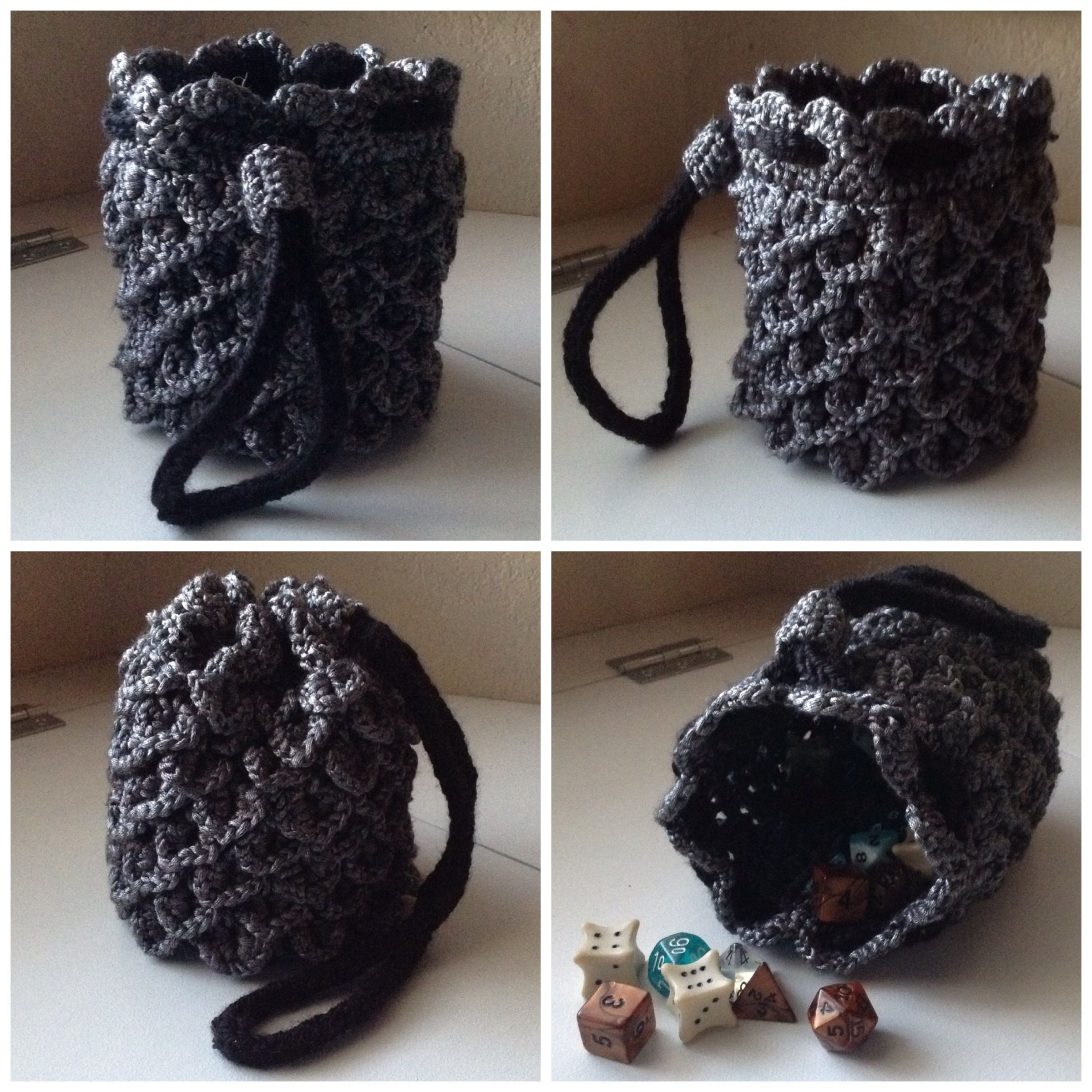 Dragon Scale Hide Dice Bag D&D dungeons and dragons pathfinder ...