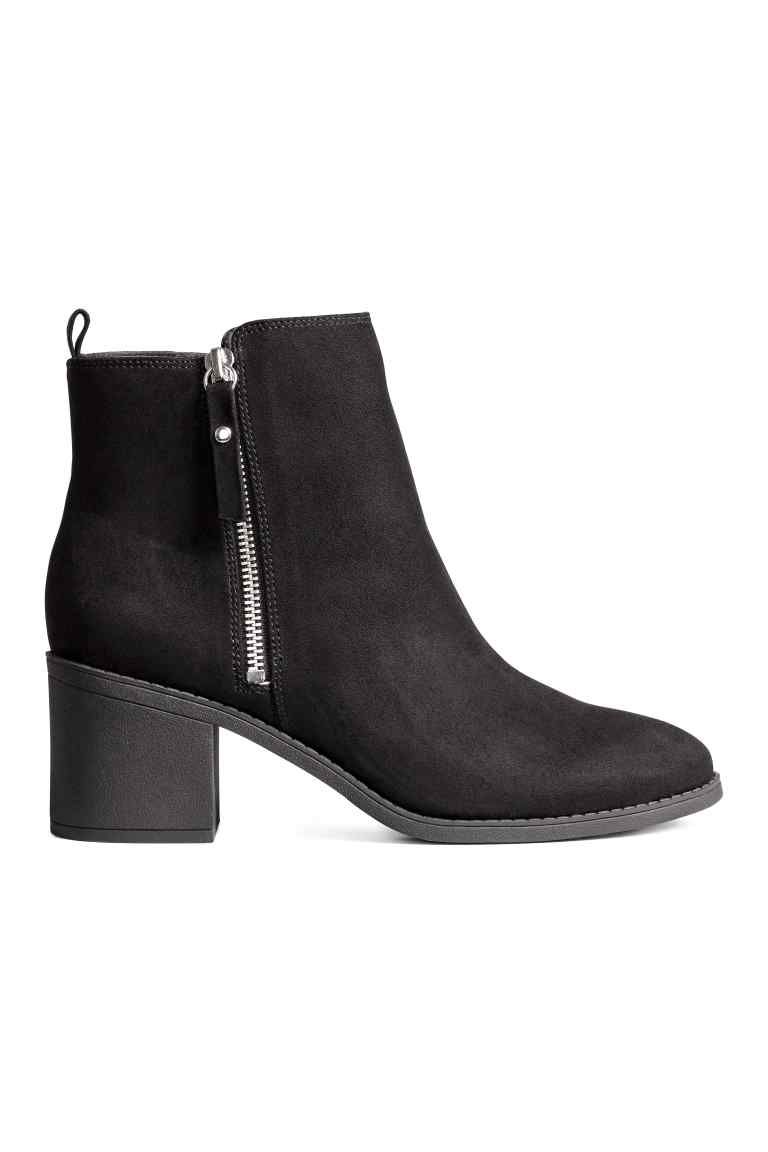 b2bc70d44 Ankle boots: Ankle boots in imitation suede with a zip in the side, loop at  the back, satin linings, imitation leather insoles and rubber soles.