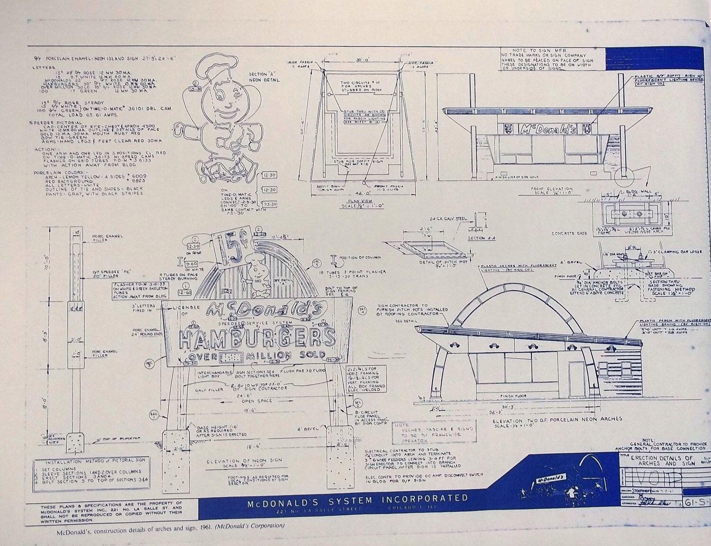 Early mcdonalds prototype restaurant blueprint by blueprintplace on early mcdonalds prototype restaurant blueprint by blueprintplace on etsy httpsetsylisting115521303early mcdonalds prototype restaurant malvernweather Gallery