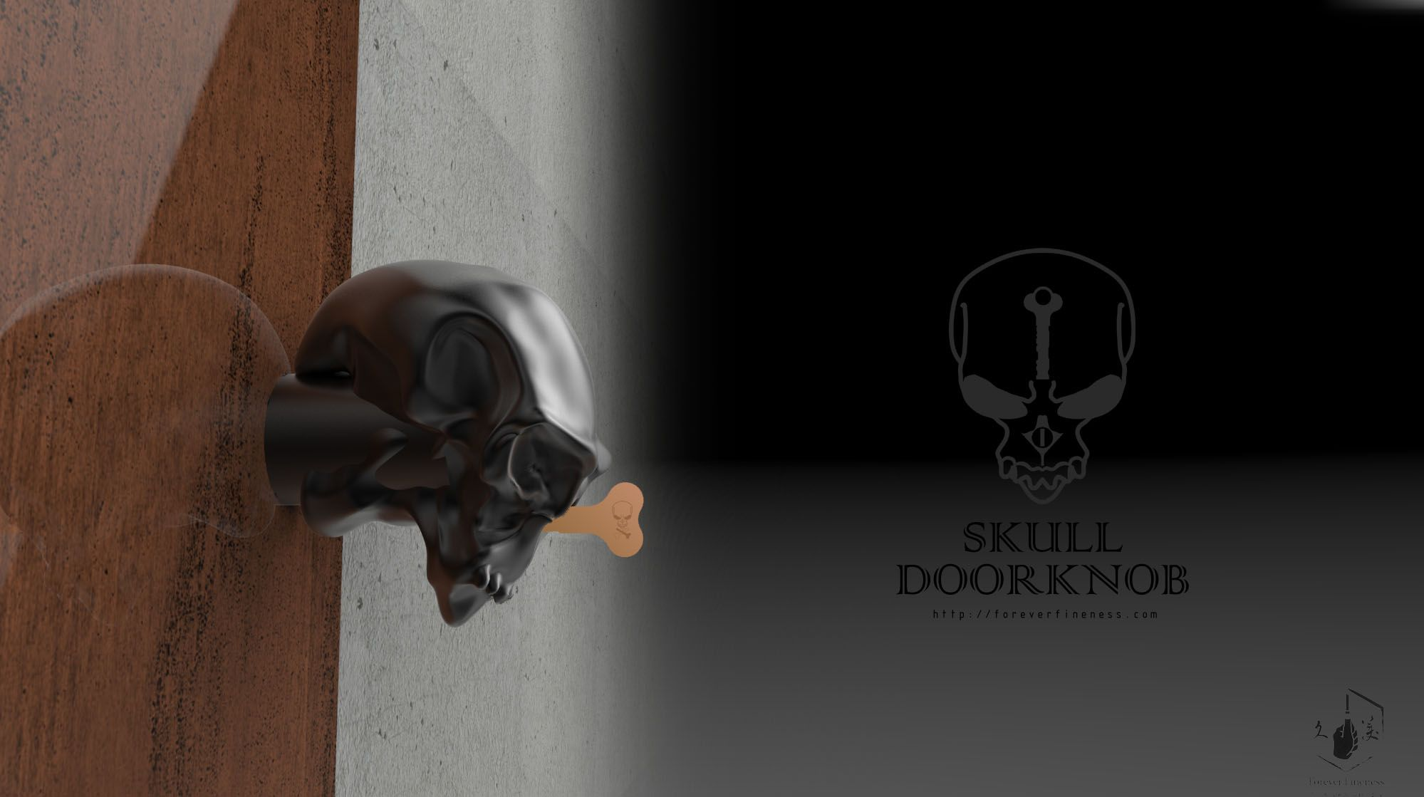 Skull doorknob i have no idea where i would put this though ohm
