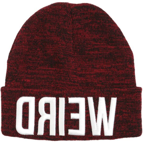 cc22b3fe84b Weird Red Marled Watchman Beanie