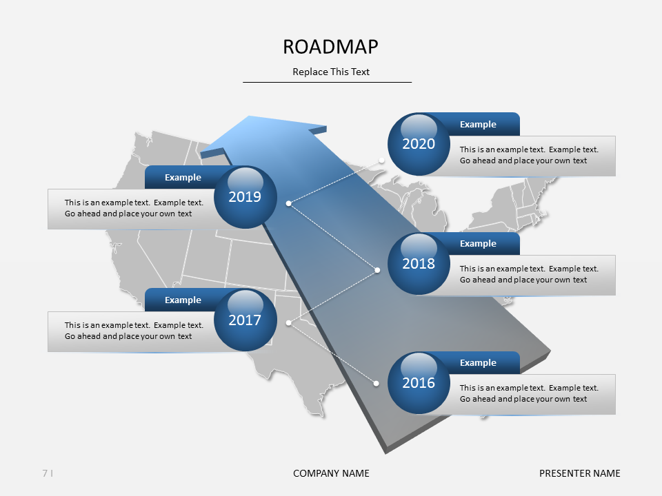 roadmap powerpoint slide free from aug 29 to sept 4