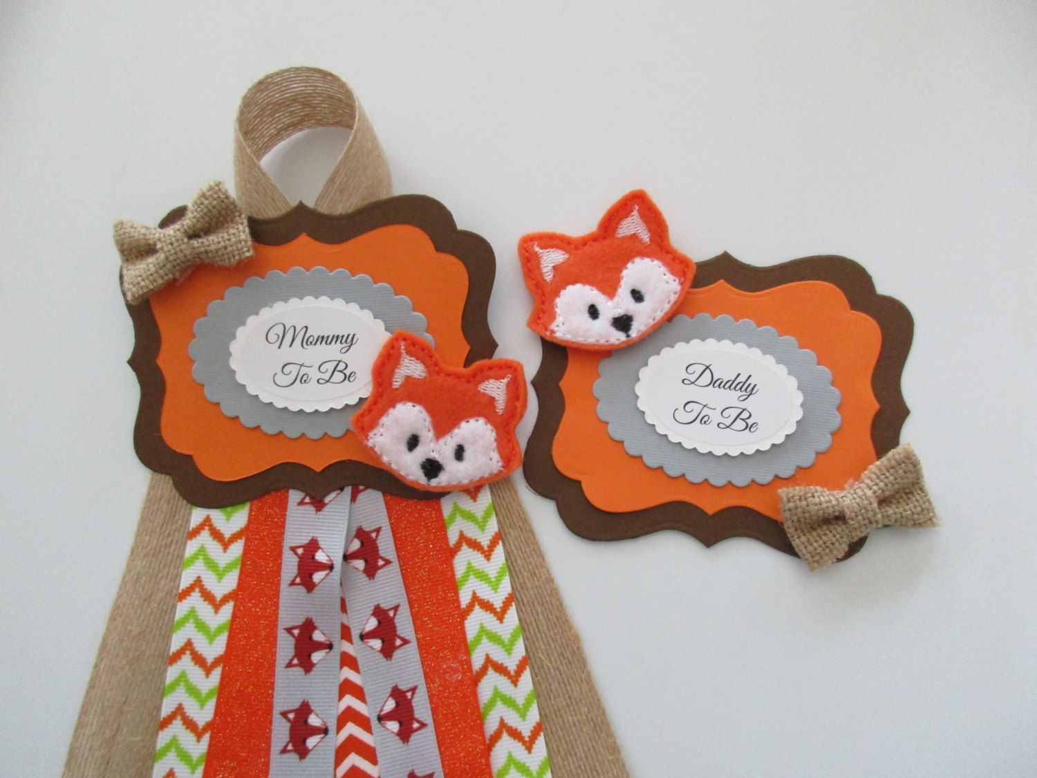 set fox mommy to be baby shower corsage daddy to be shower corsagebaby boy shower corsagebaby shower badge mommy to be corsage